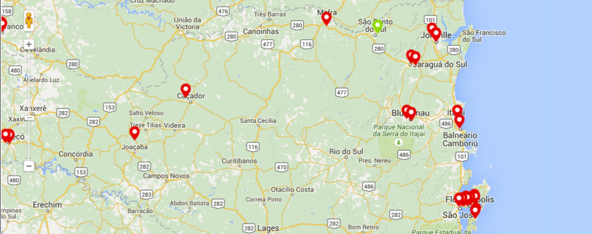 empresas de energia solar em Joinville, Florianópolis, Balneário de Camboriú, Blumenau, Itajaí, Chapecó, Criciúma
