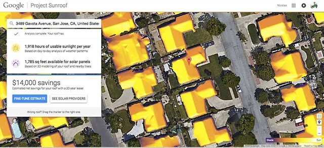 Google Sunroof Project - Mapa da energia solar do Google