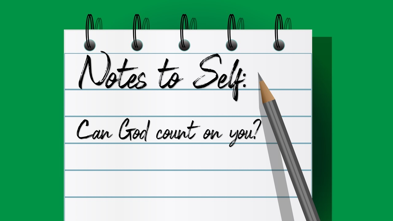 Can God count on you? Image