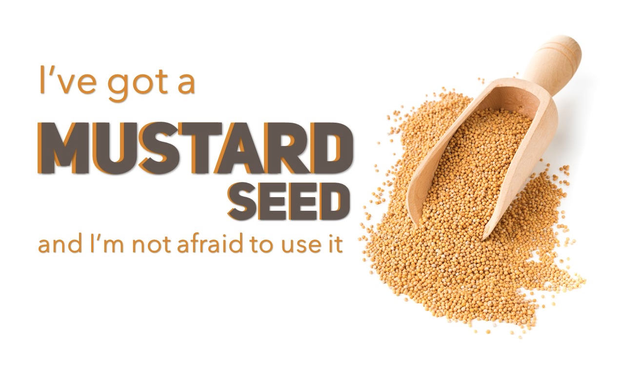 I've Got a Mustard Seed and I'm not Afraid to Use it Image