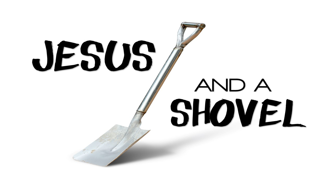 Jesus and a Shovel Image