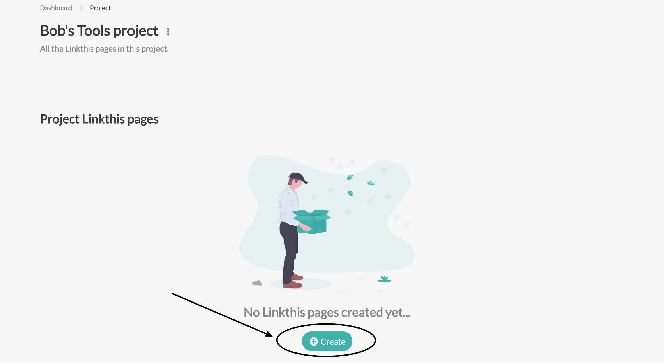 Click on Create within your Project