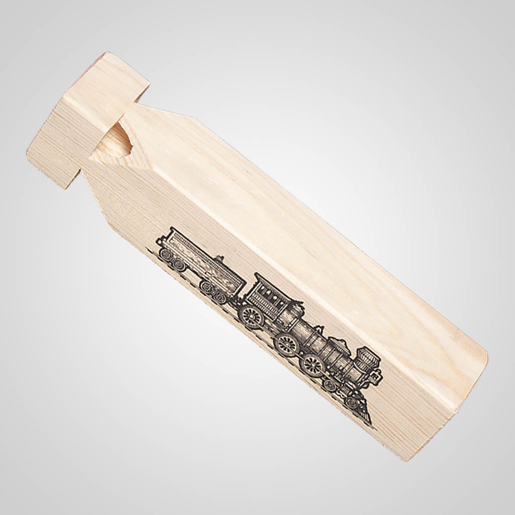 61191PL - Wood 3-Hole Train Whistle, Plain