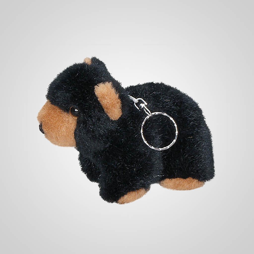 61198 - Plush Black Bear Keychain, Plain