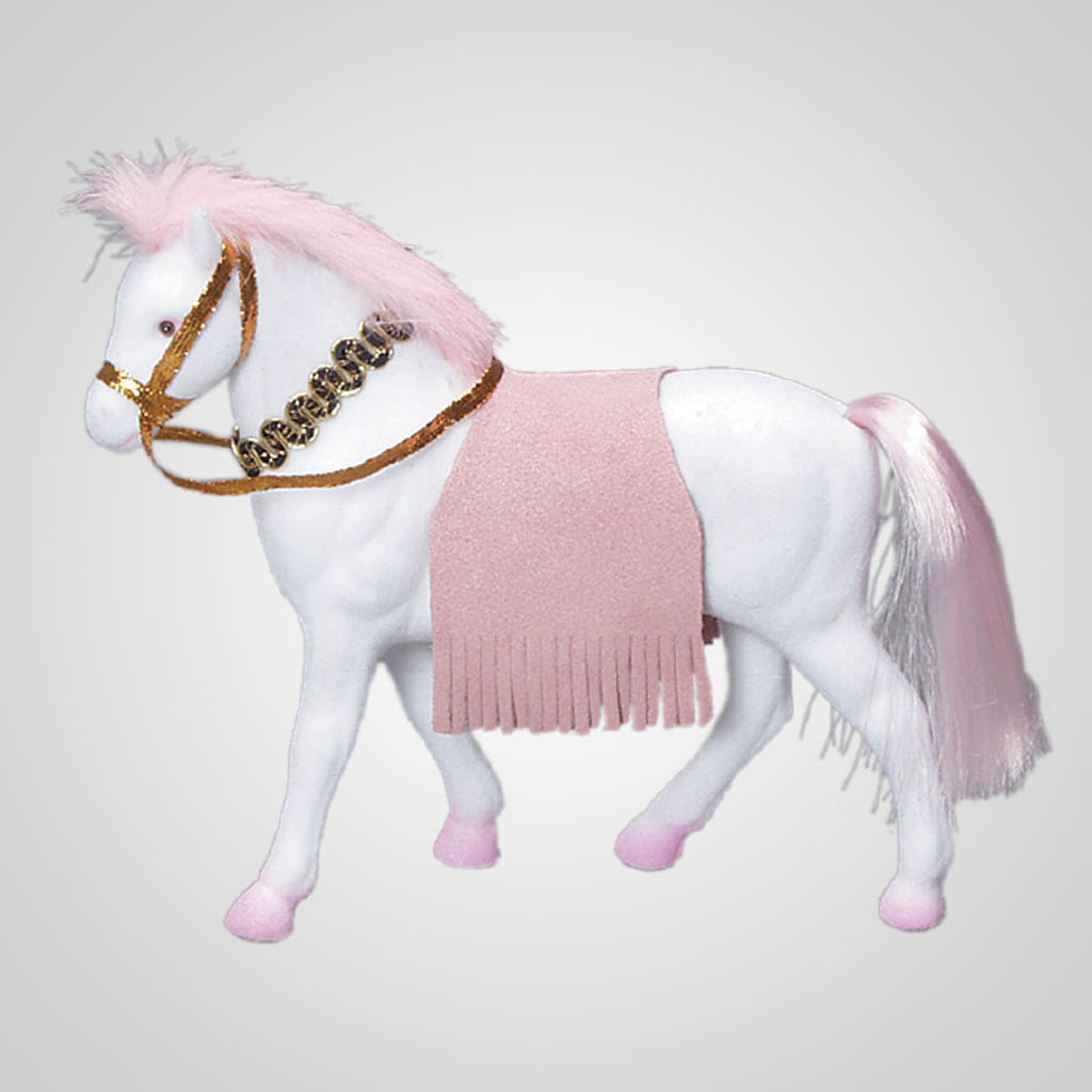 "61227IM - 7"" Flocked Horse"