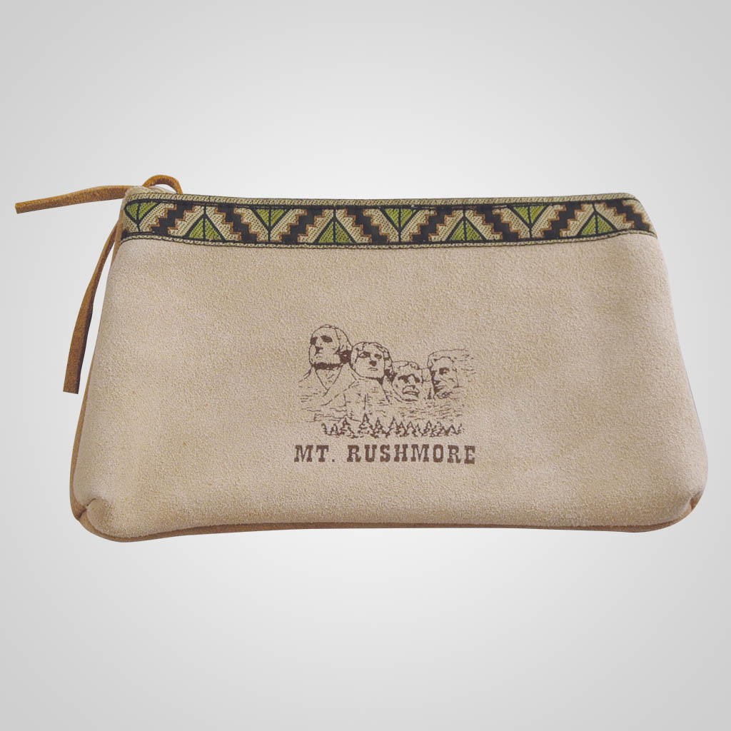 61345MTR - Mt. Rushmore Leather Clutch