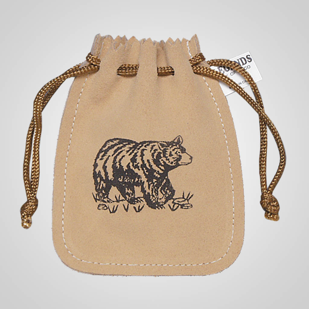 61377PL - Leather Poke, Bear, Plain