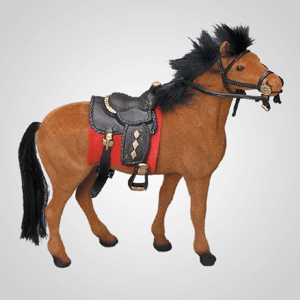 "61433 - 7"" Brown Horse w/ Saddle"