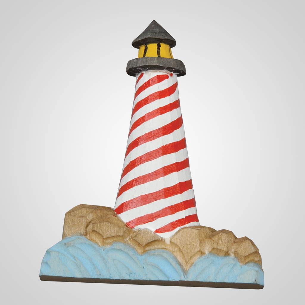 61887 - Carved Wood Lighthouse Magnet