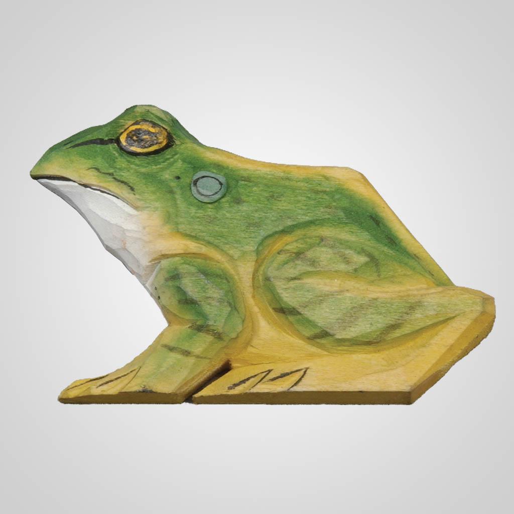 61892 - Carved Wood Frog Magnet