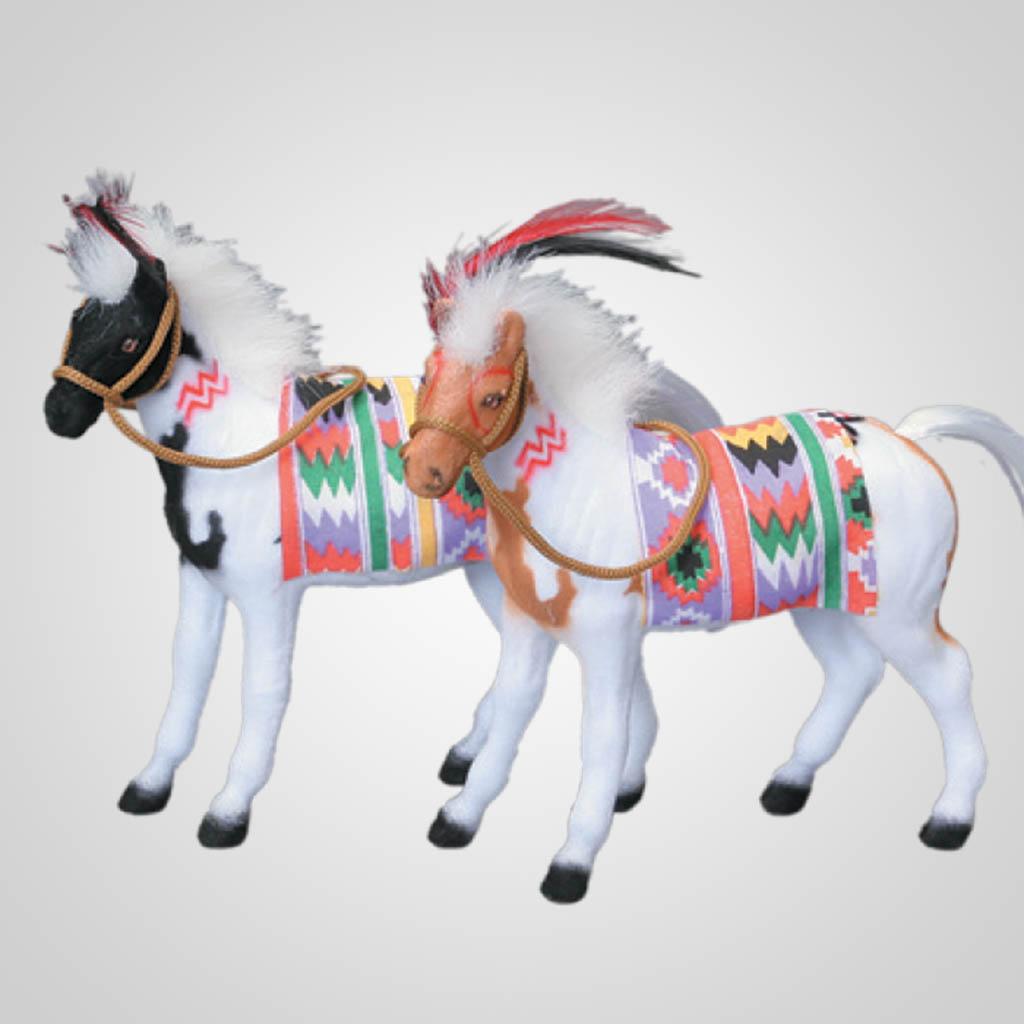 "61988 - 6"" Flocked Horse"