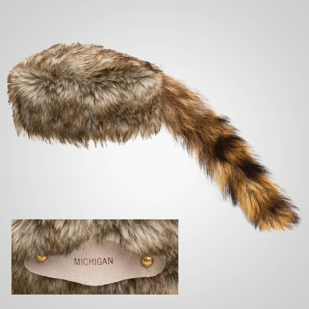 62101IM - Real Raccoon Tail Cap