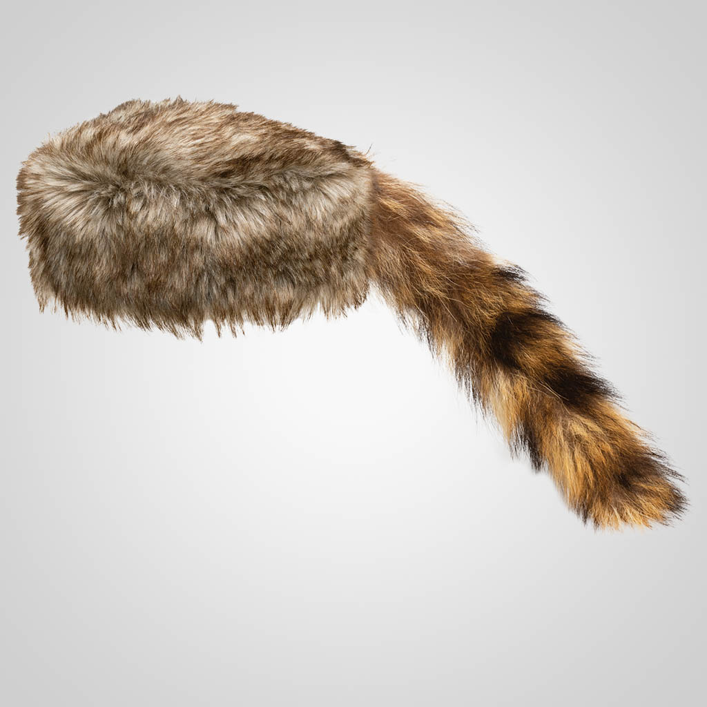 62102PL - Real Raccoon Tail Cap