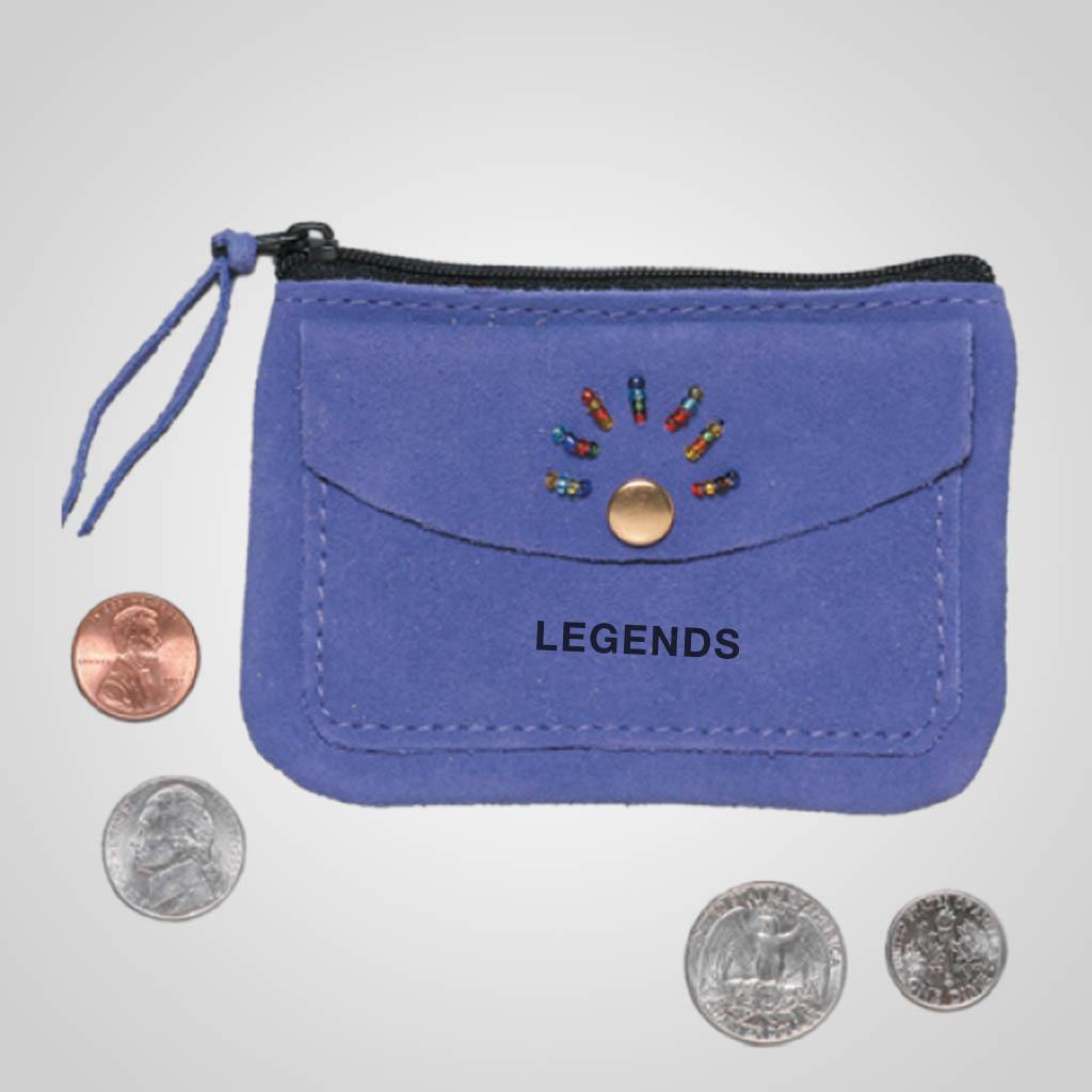 62353IM - Purple Leather Coin Purse, Name-Drop