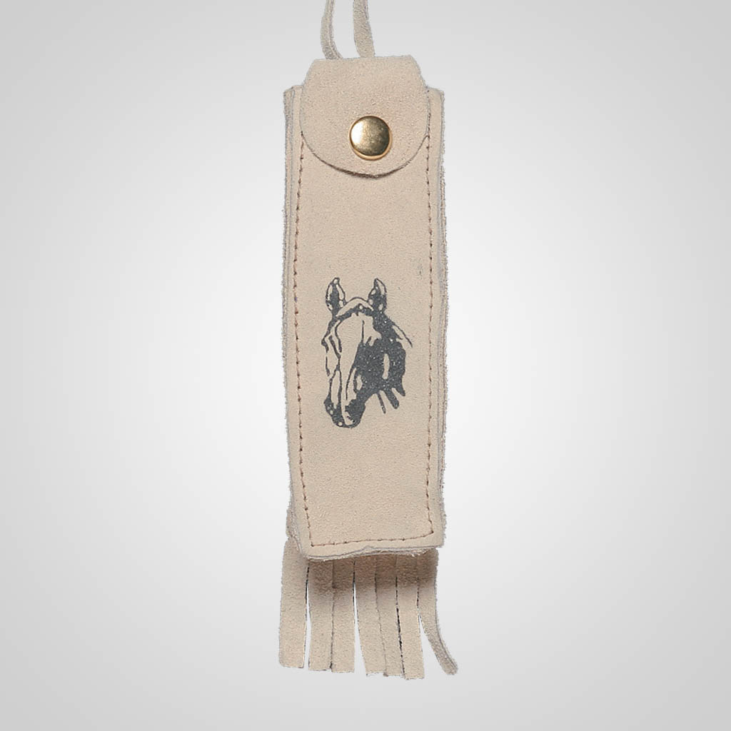 62356IM - Leather Neck Case, Horse Design, Name-Drop