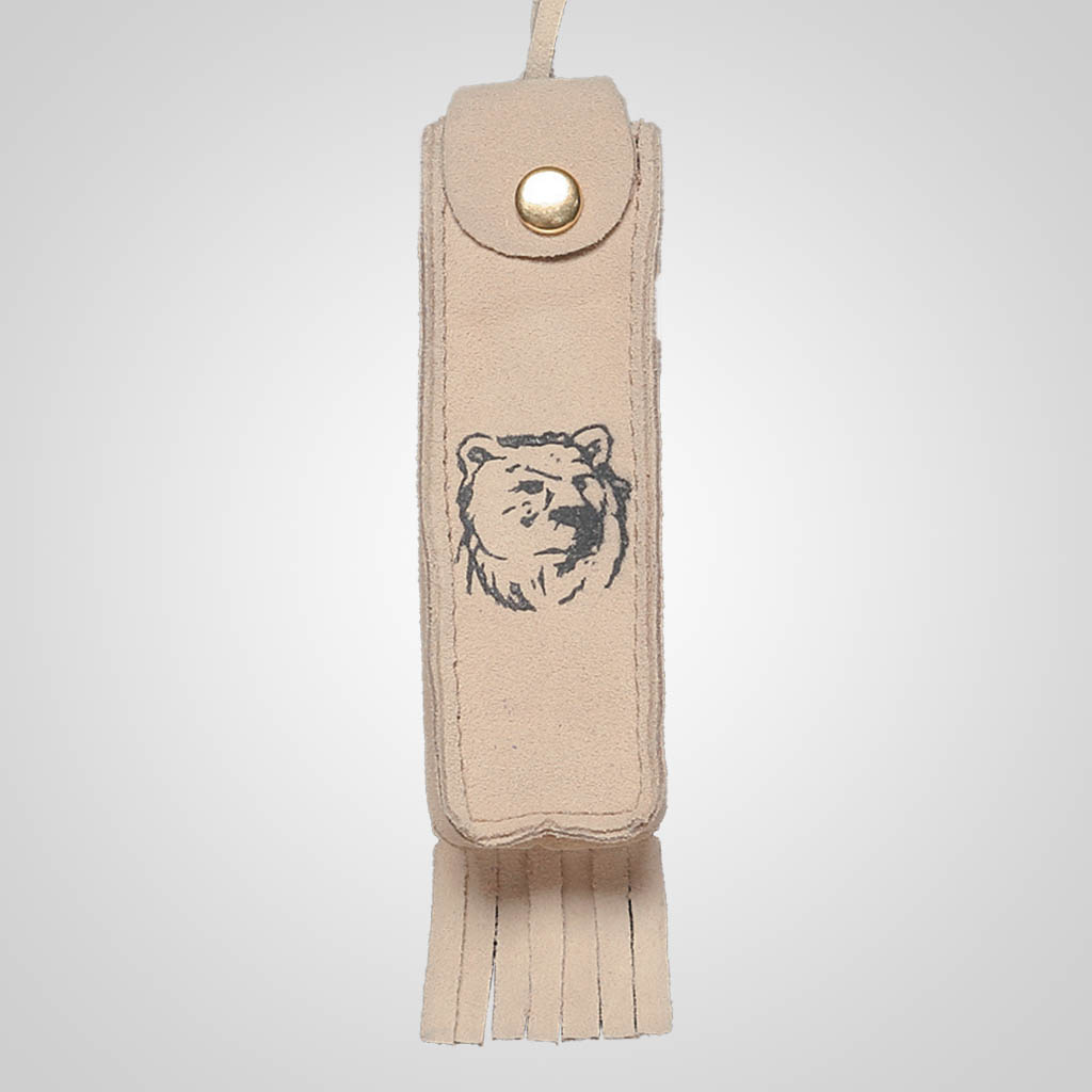 62359IM - Leather Neck Case, Bear Design, Name-Drop