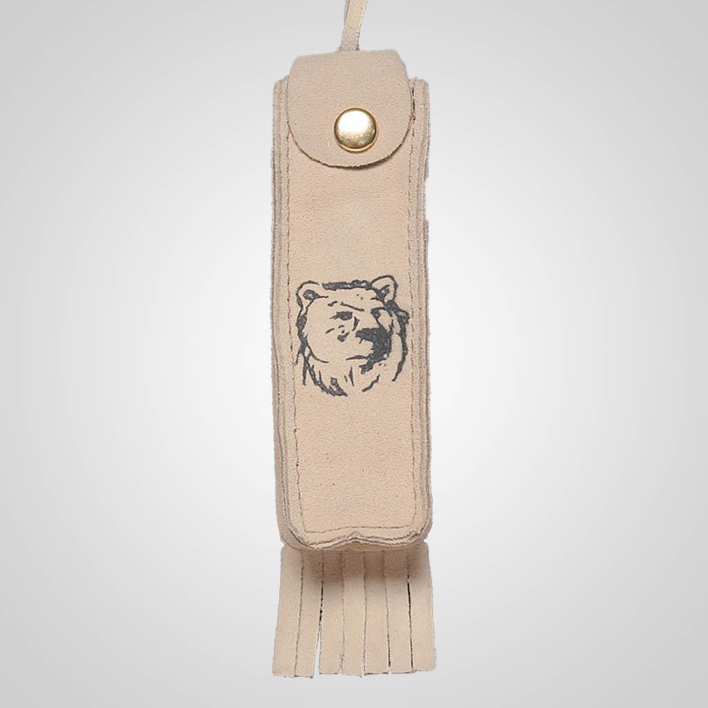 62359PL - Leather Neck Case, Bear Design, Plain