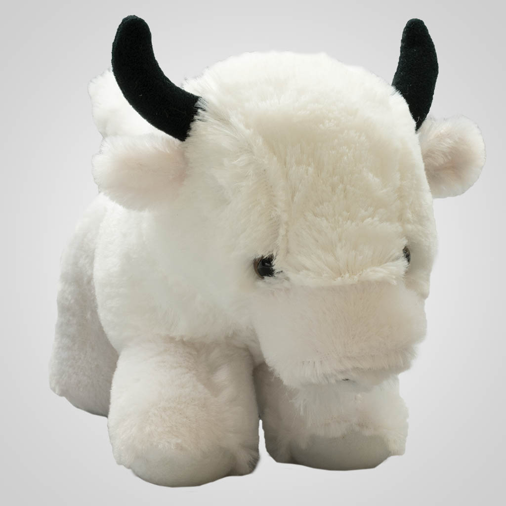 "62464 - Plush 9"" White Buffalo, Plain"