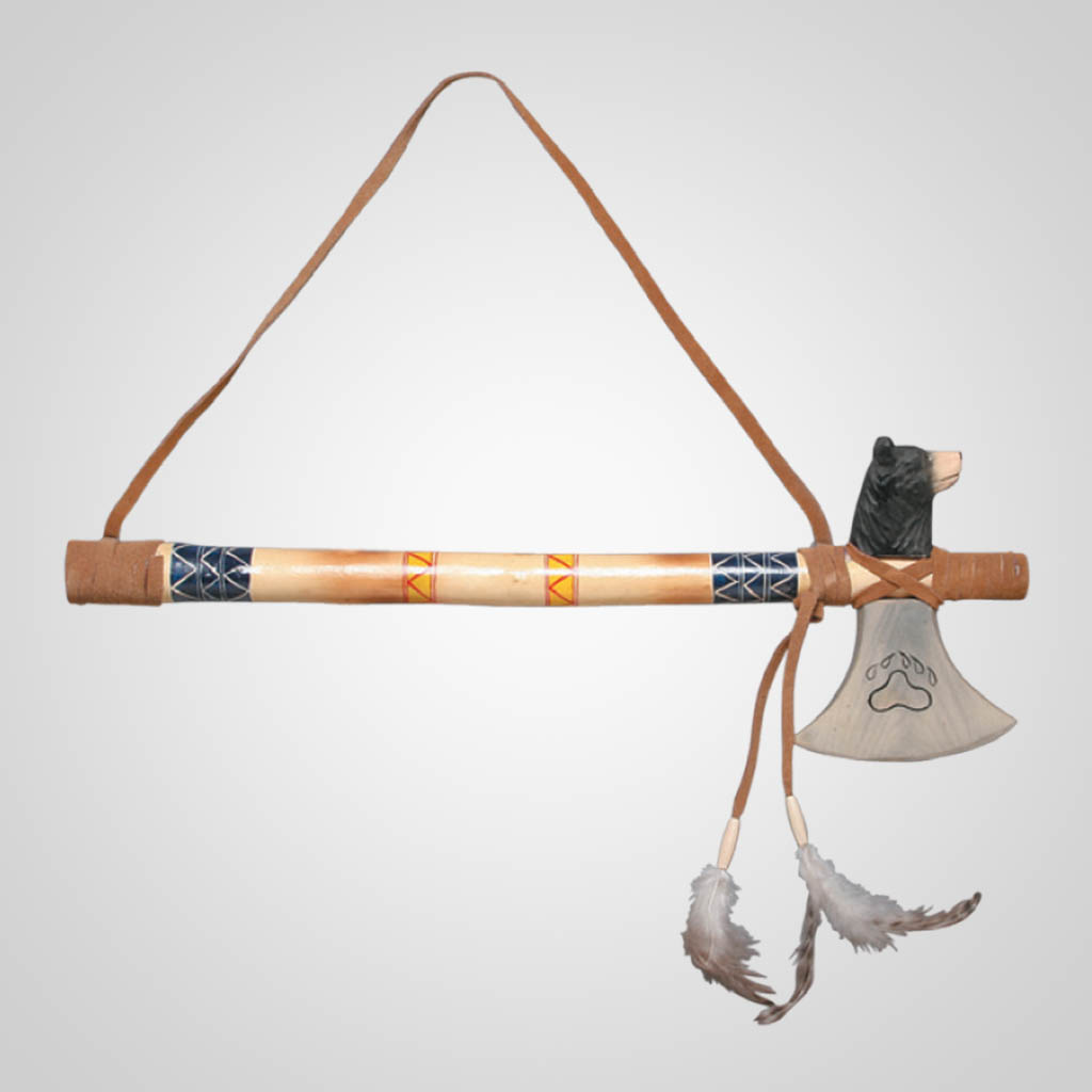 62481 - Bear Tomahawk Wall Hanging, Plain