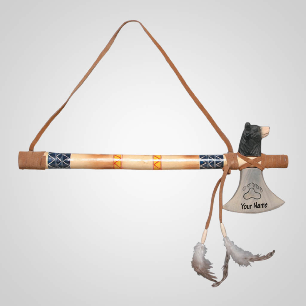 62481IM - Bear Tomahawk Wall Hanging, Name-Drop