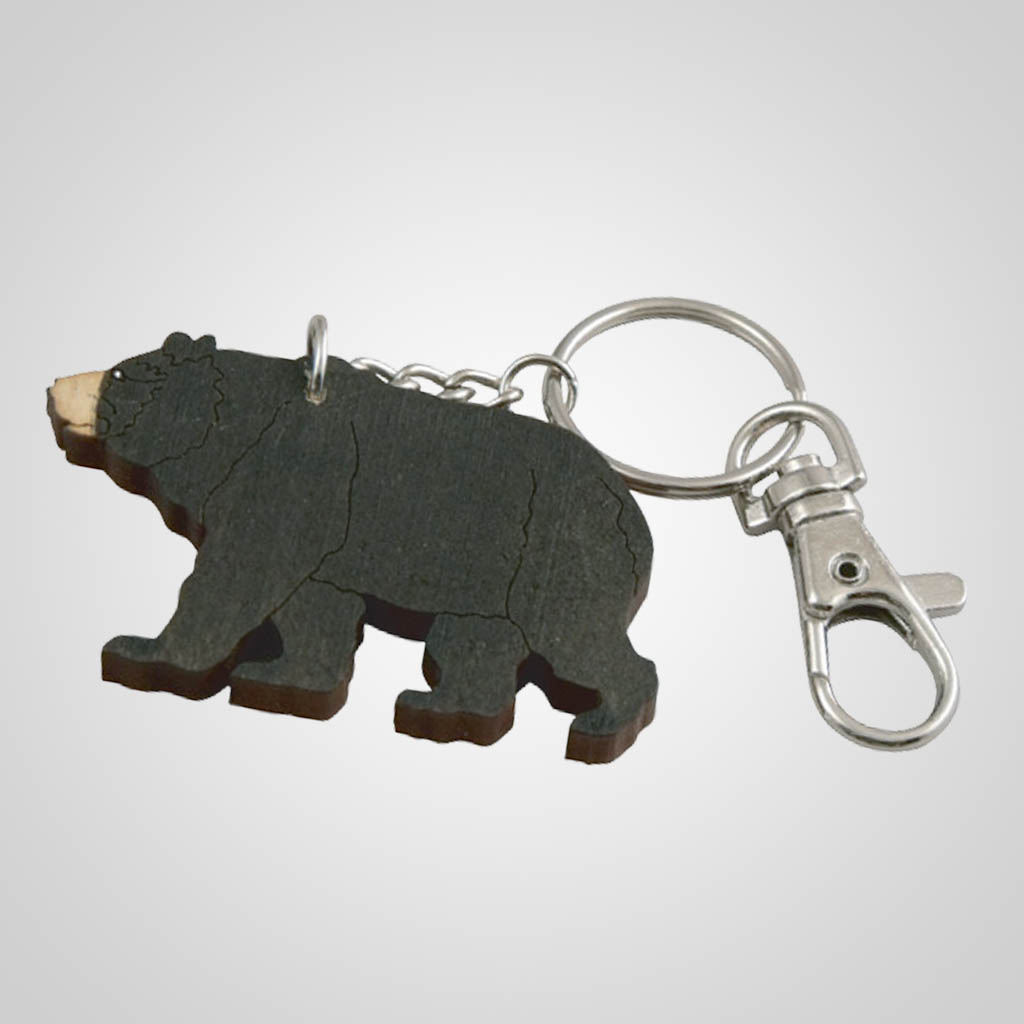 62797PL - Laser Cut Bear Keychain, Plain