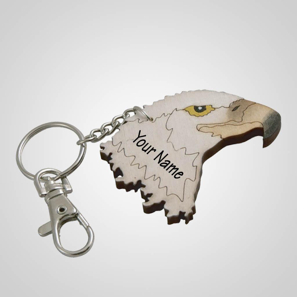 62798IM - Laser Cut Eagle Keychain, Name-Drop