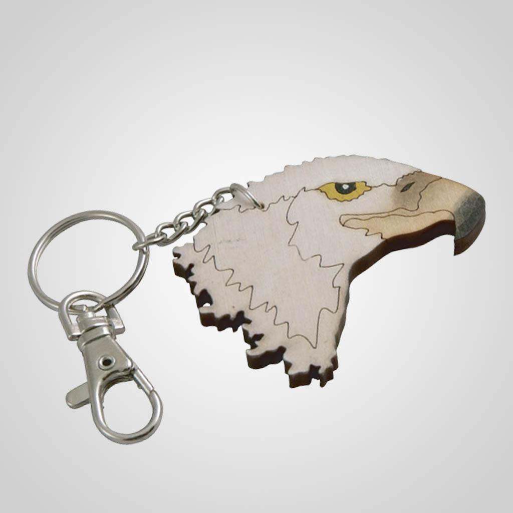 62798PL - Laser Cut Eagle Keychain, Plain