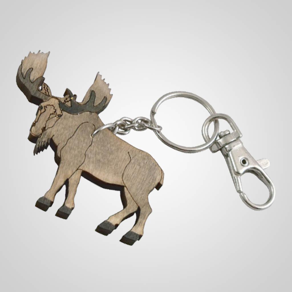 62800PL - Laser Cut Moose Keychain, Plain
