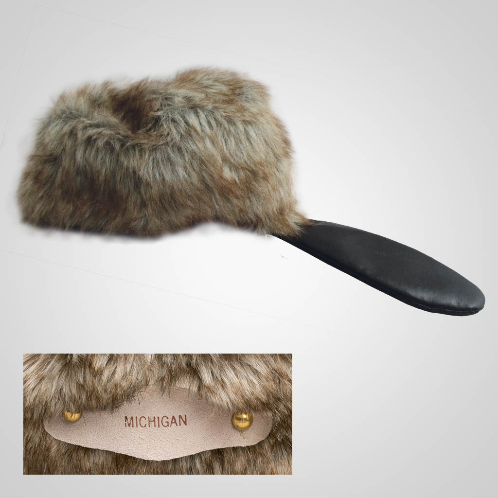 62806IM - Novelty Beaver Hat, Large, Name-Drop