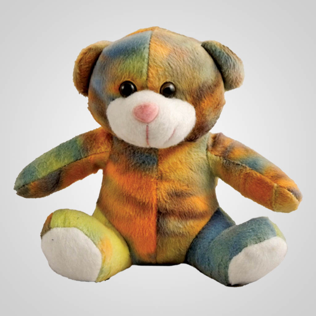 62852 - Plush Tie-Dye Bear, Plain