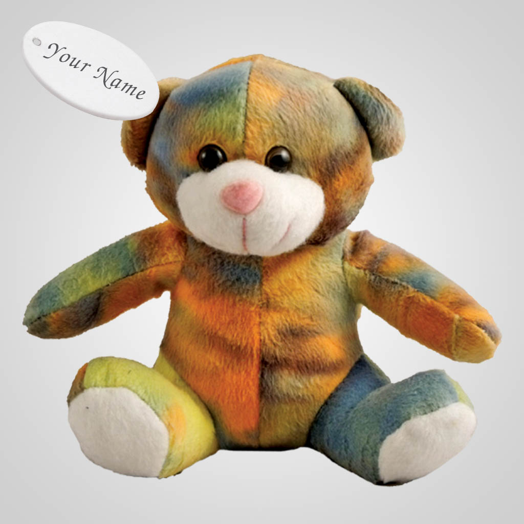62852IM - Plush Tie-Dye Bear, Name-Drop