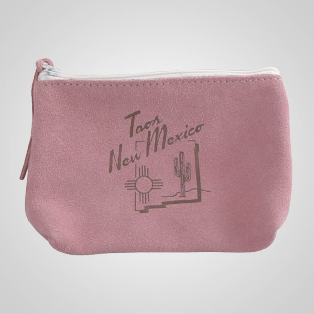 62898PP - Pink Leather Zip Purse, Custom Design.
