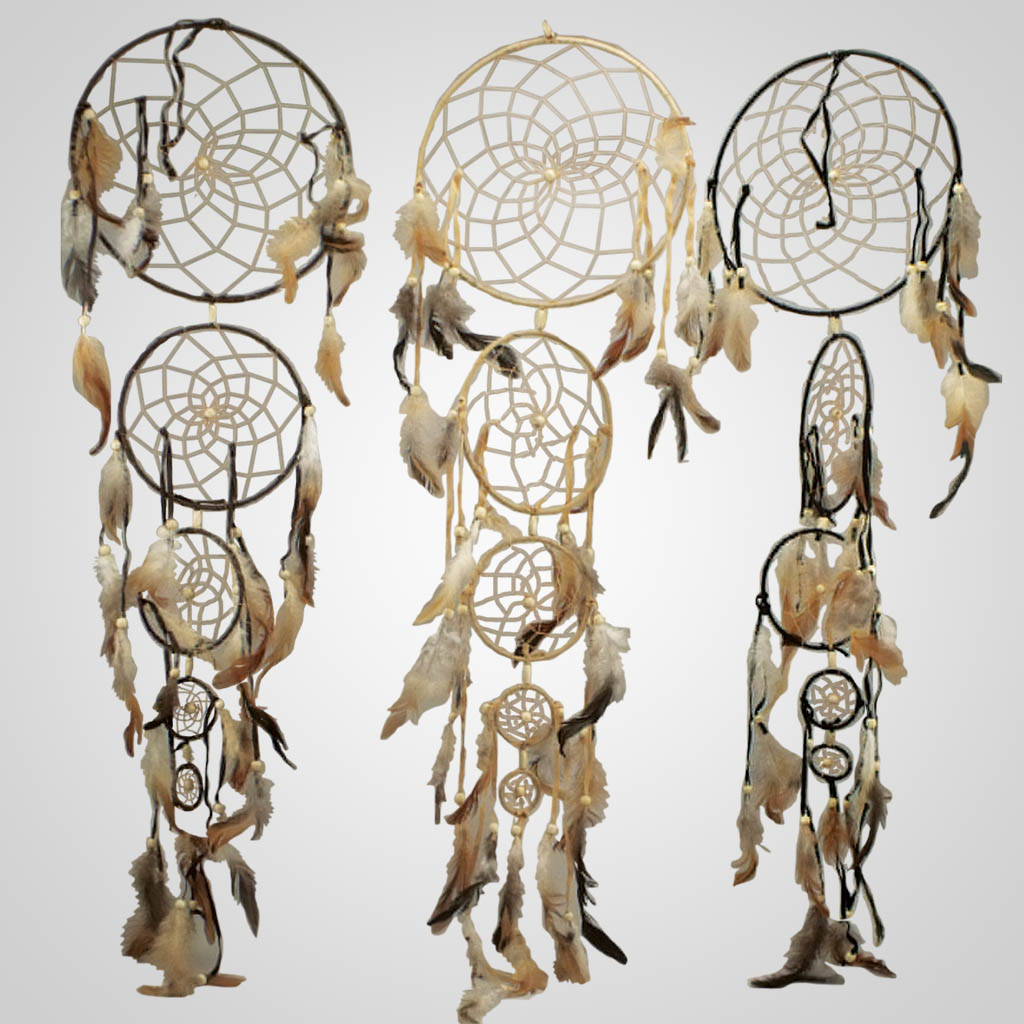 62998 - Five Ring Vertical Dreamcatcher