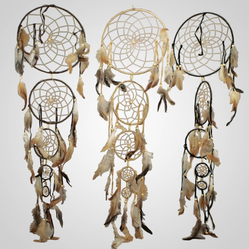 62998 - Five Ring Vertical Dreamcatcher