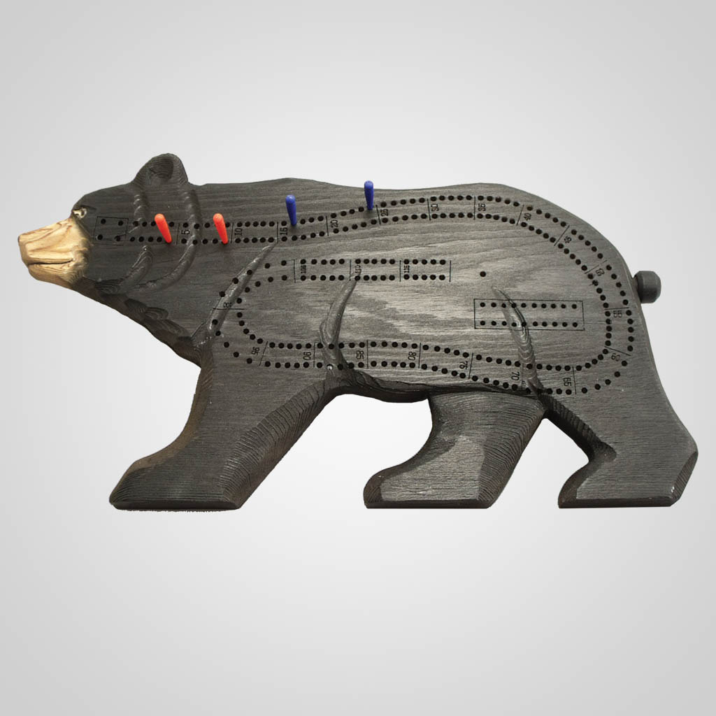 63030PP - Bear Cribbage Board, 1 Color Print