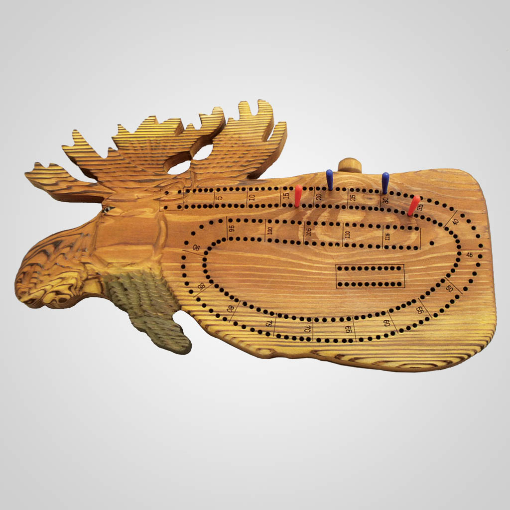 63031PP - Moose Cribbage Board, 1 Color Print