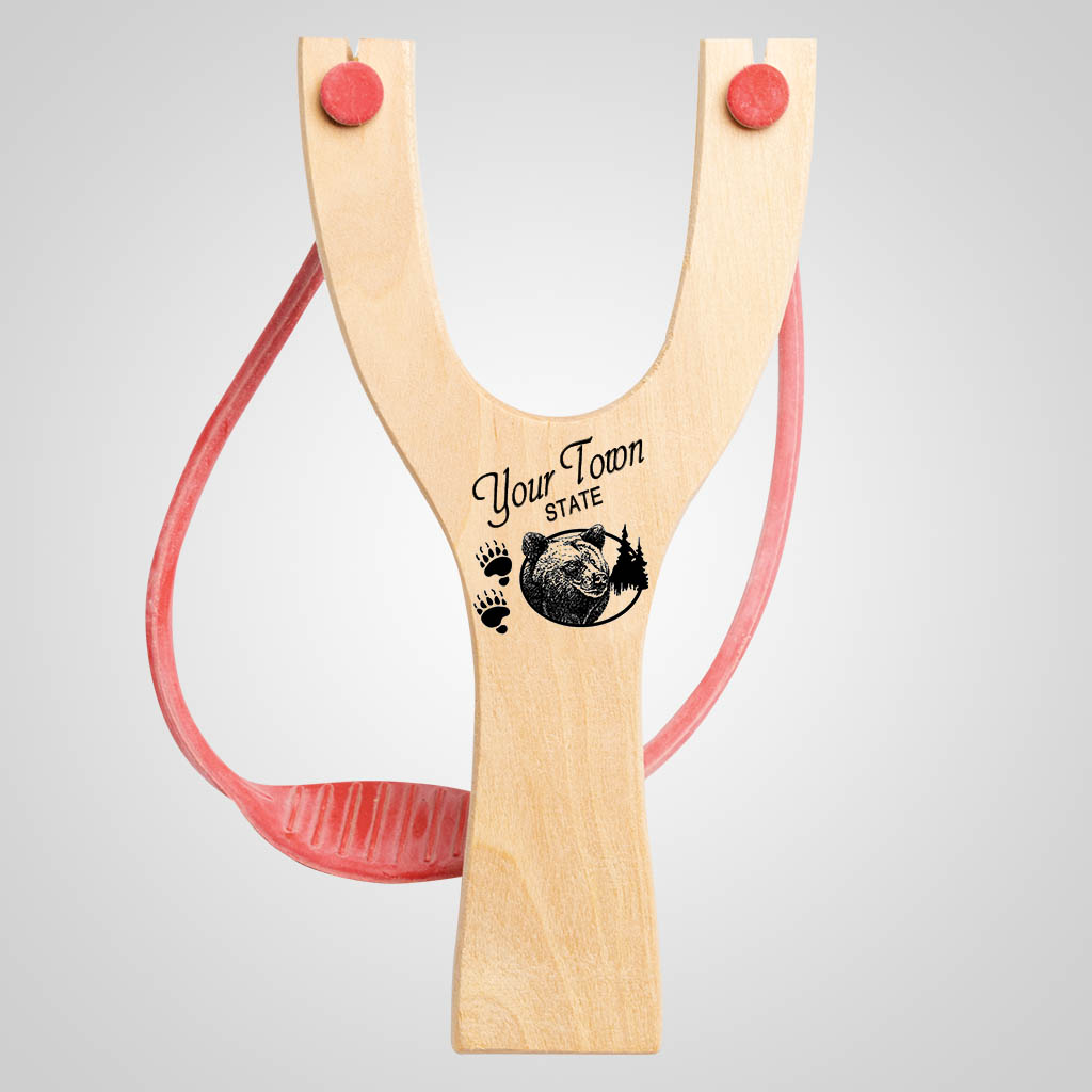 63040IM - Bear Tracks Slingshot, Name-Drop