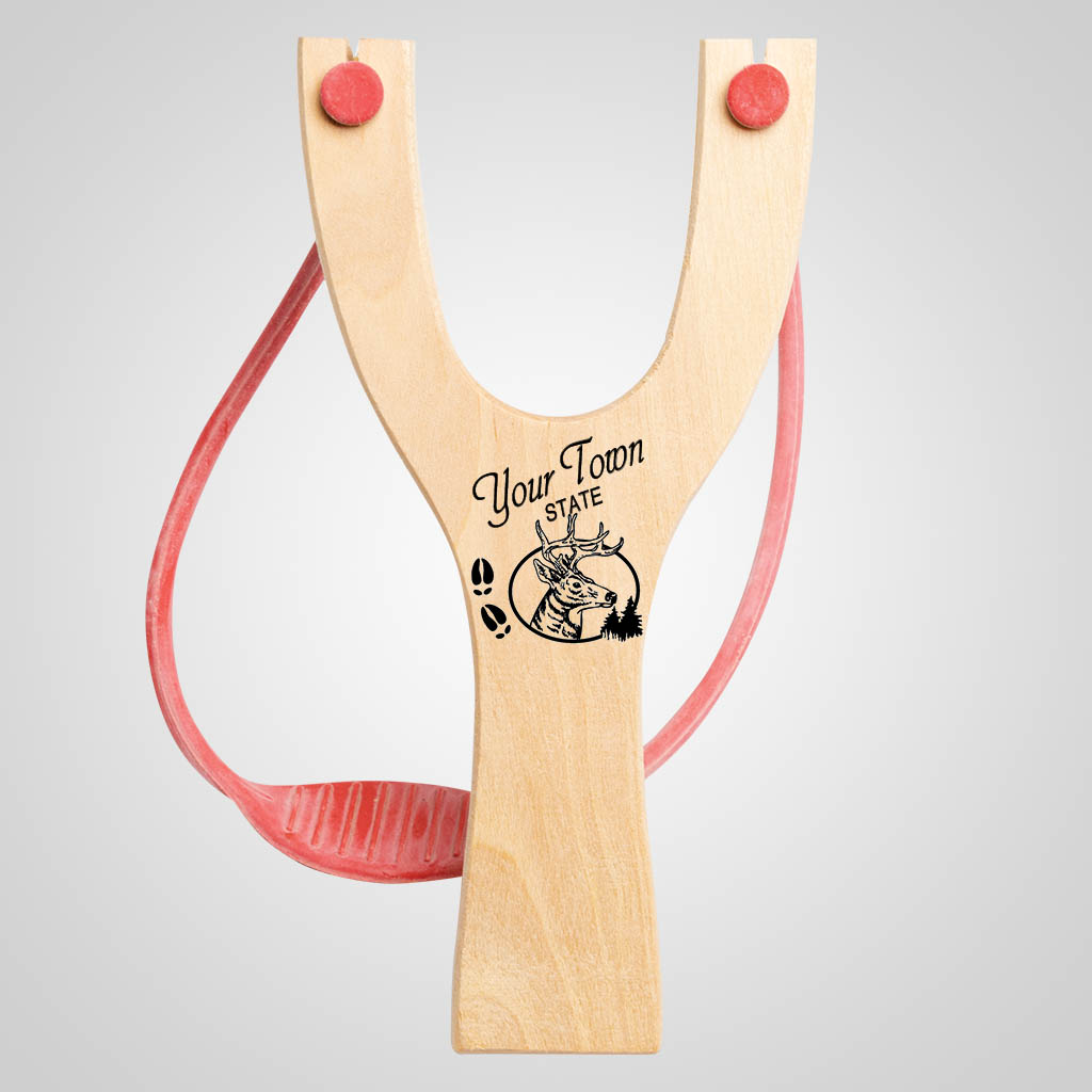 63041IM - Deer Tracks Slingshot, Name-Drop