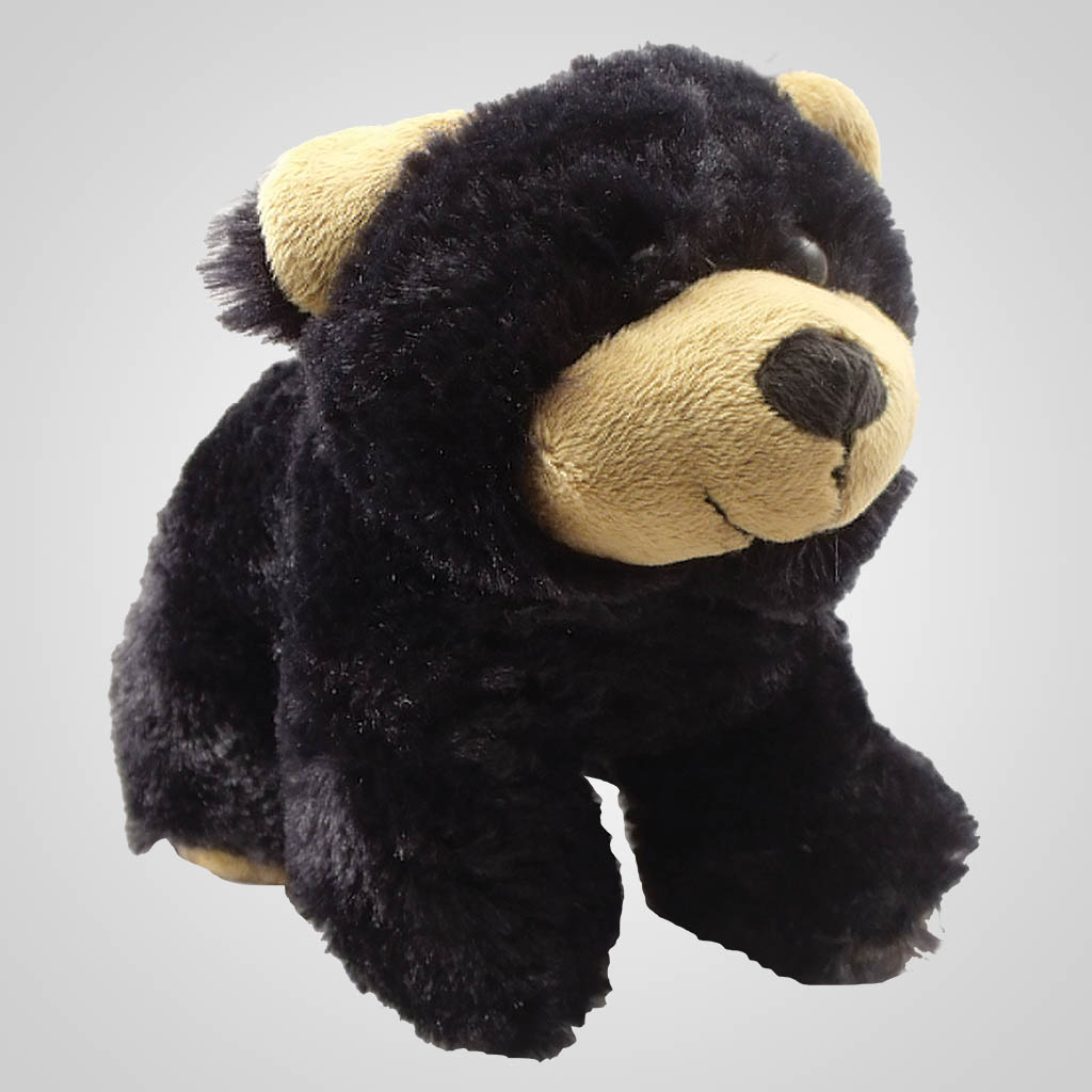 63051 - Plush Black Bear Bean Bag