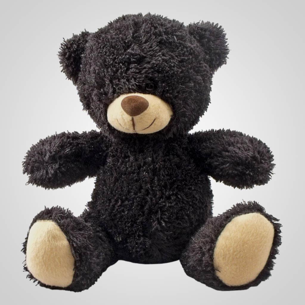 63085 - Plush Sitting Black Bear, Plain