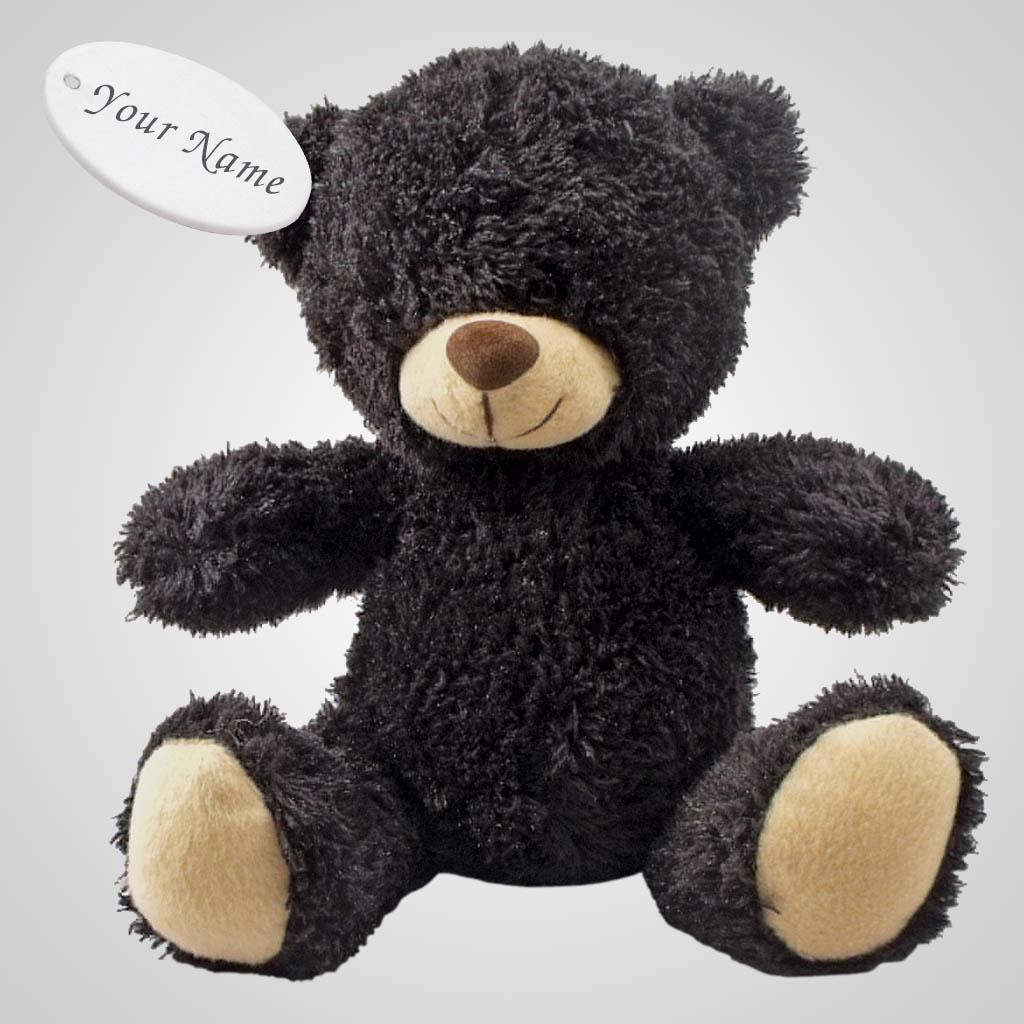 63085IM - Plush Sitting Black Bear, Name-Drop