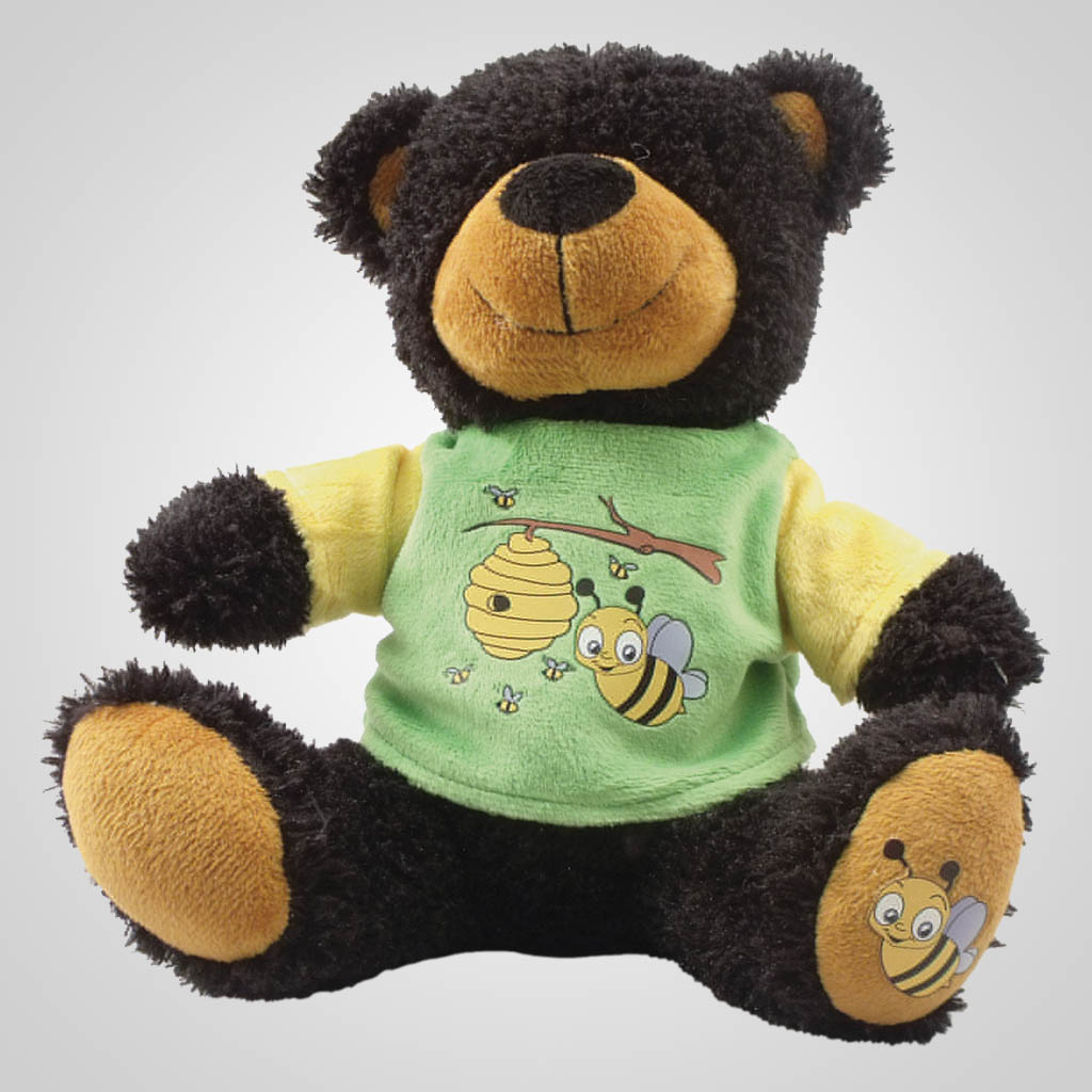 63086 - Plush Bear In Bee T-Shirt, Plain