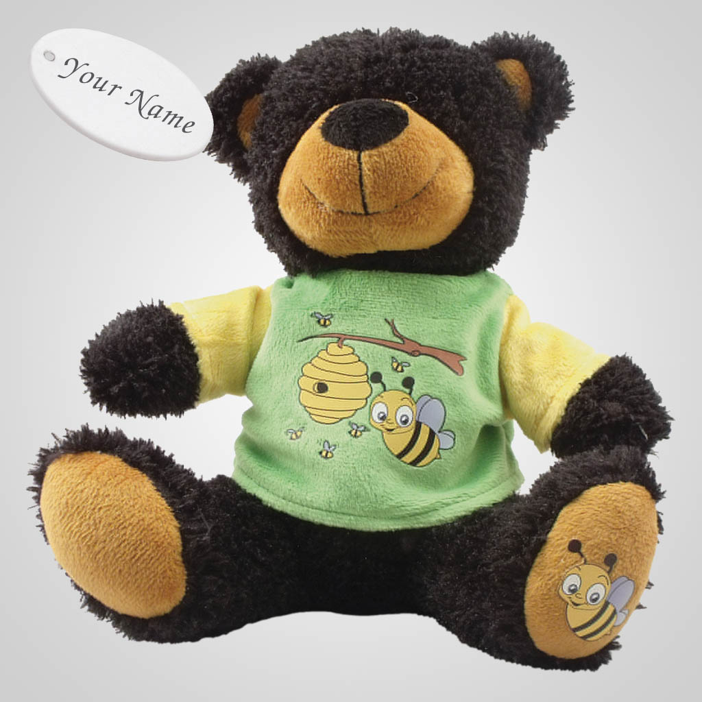 63086IM - Plush Bear In Bee T-Shirt, Name-Drop