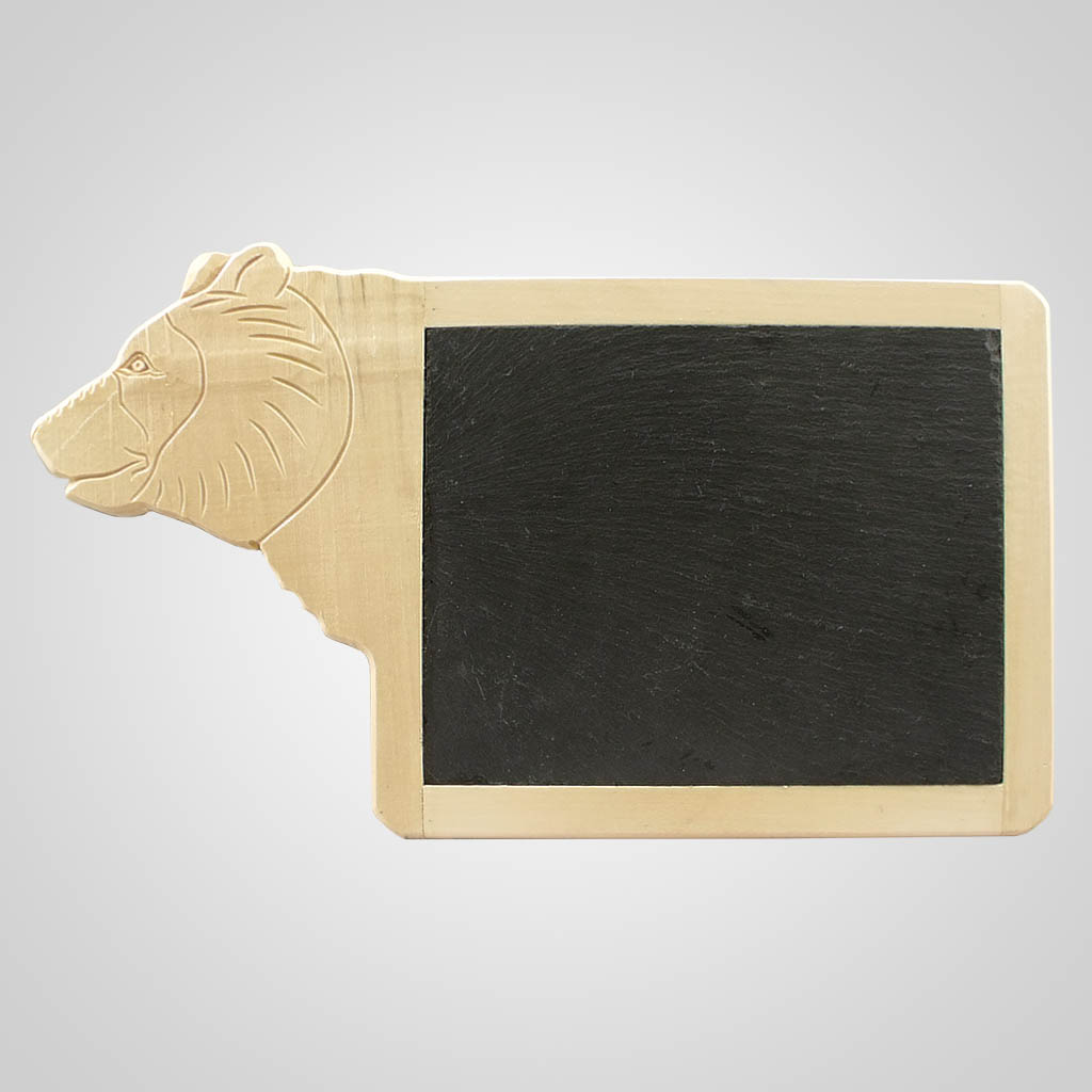 63092 - Bear Wood & Slate Serving Platter