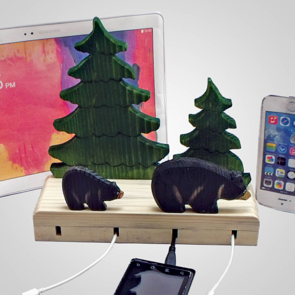 63094 - Bears Phone/Tablet/Cord Holder