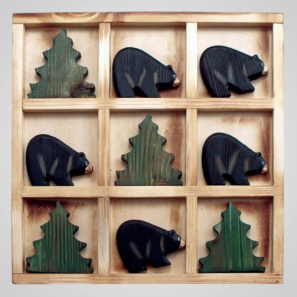 63095 - Wood Tic Tac Toe Game