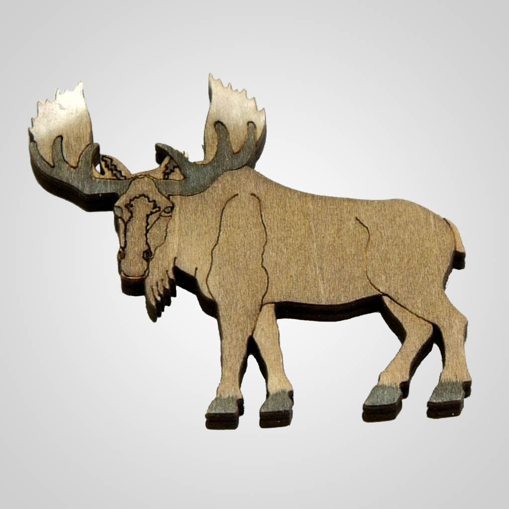 63096PL - Laser Cut Moose Magnet, Plain
