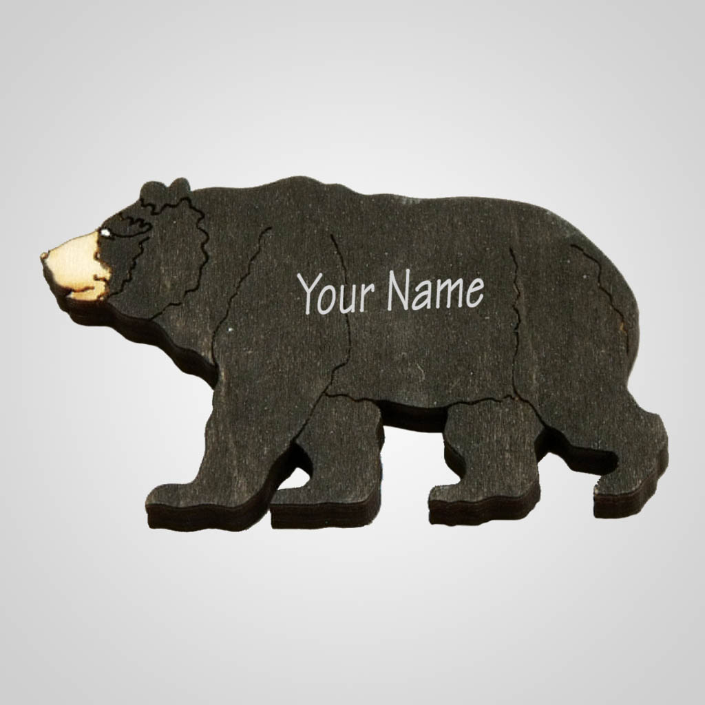 63099IM - Laser Cut Bear Magnet, Name-Drop
