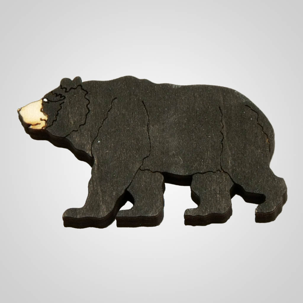 63099PL - Laser Cut Bear Magnet, Plain