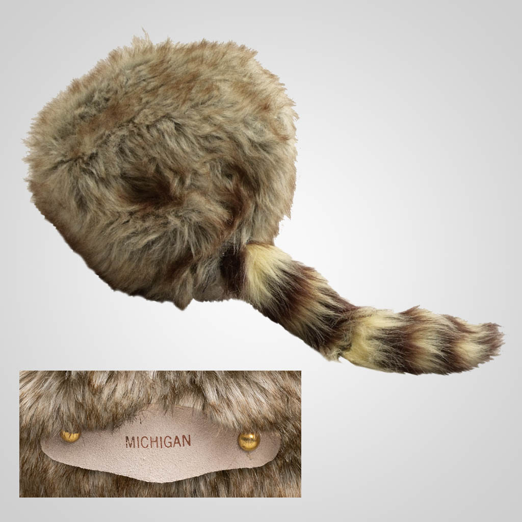 63148IM - Imitation Coon Skin Hat, Small, Name-Drop